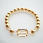 kuldsetest swarovski pärlitest käevõru